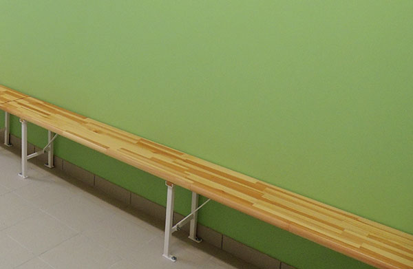 banc simple vestiaire