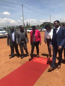 Pose d'un multisport à Kigali