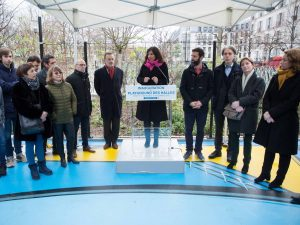 Inauguration du playground des Halles Paris