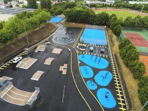 Streetpark tout métal, Skate Park et Workout au Plessis Trévise