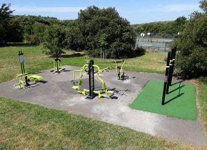 Aire de fitness extérieure sur l'Ile d'Olonne